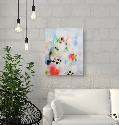 """Light in my room 1"" - 60x50x2cm"