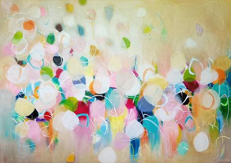 """Happy like the Butterfly"" - 170x120x4cm"