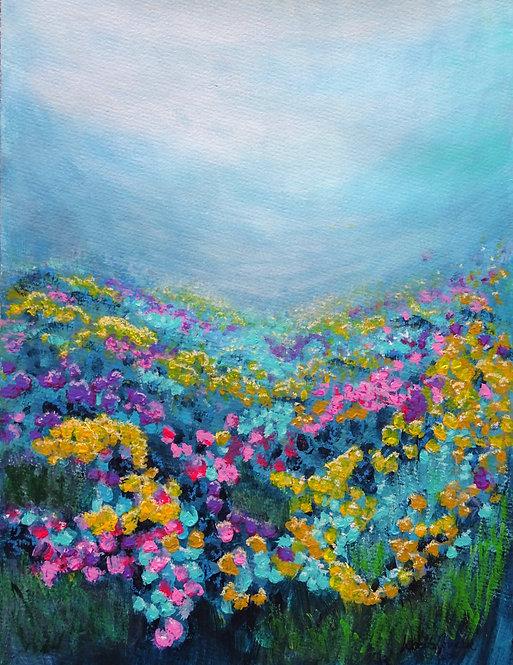 """Blue Garden"" - 48x36cm"