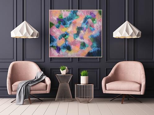 """Flowers Fragrance"" - 100x90x2cm"