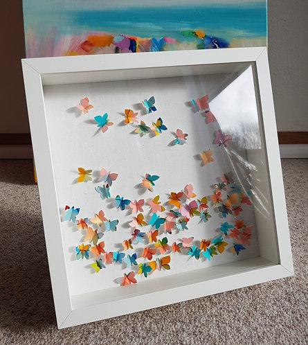 "Box""Happy Butterflies in Colour"" -  27x27x6cm"