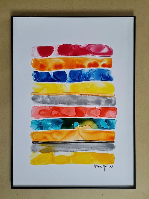 """""""Happy Stripes"""" - 50x70cm"""