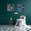 """Thumbnail: """"Black Velvet II"""" - 40x40x2cm"""