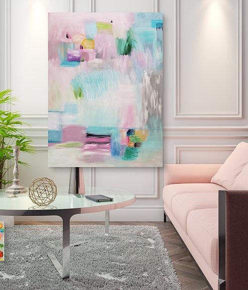 """""""Pink and blue velvet"""" - 140x105x4cm"""