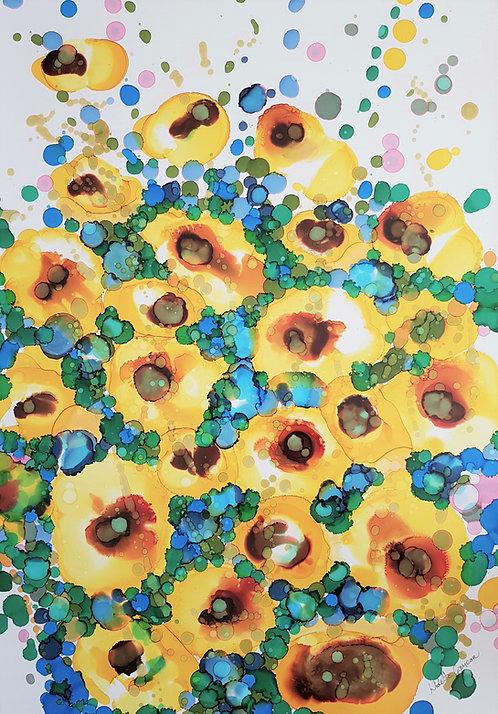 """Sunflowers 3""- 70x100cm"