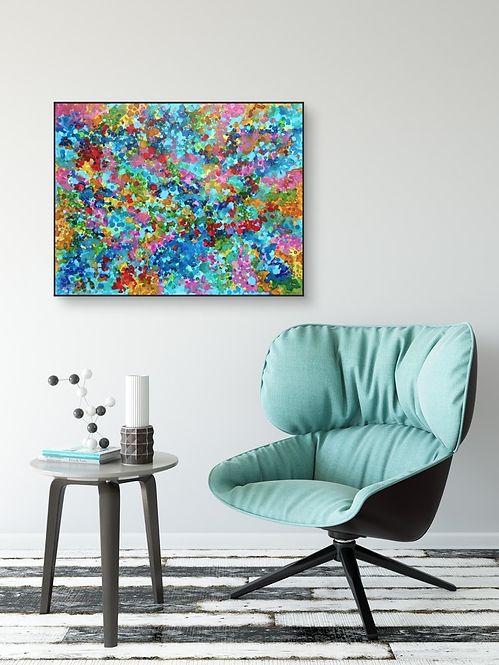 """""""Composition of Beauty"""" - 70x90cm unstretched canvas"""