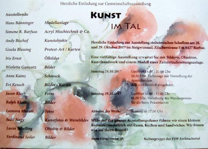 Kunst im Tal, Rorbas 28-29.10.2017
