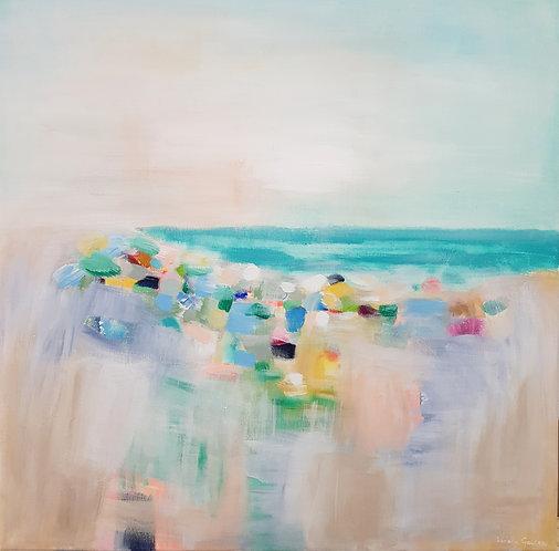 """""""Tropical Beach"""" - 60x60cm"""
