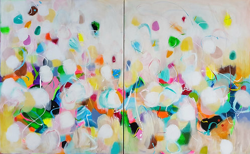 """Between The Butterflies"" - 160x100cm"