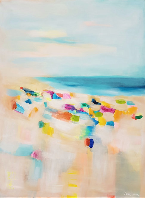 """At the beach 3""- 80x60cm"