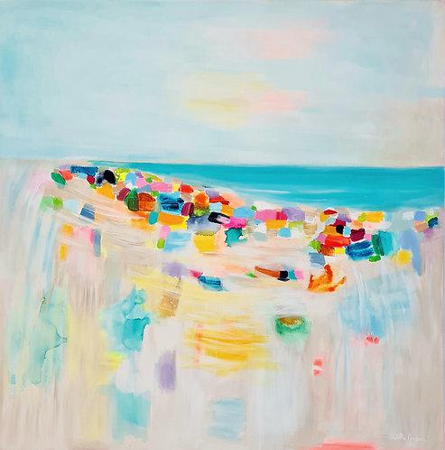 """""""Cheerful Beach"""" - 80x80cm"""