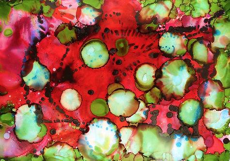 """Deep Red"" - 70x100cm"