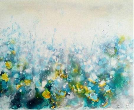 """""""Blaue Blumen"""" - 40x50x2cm"""