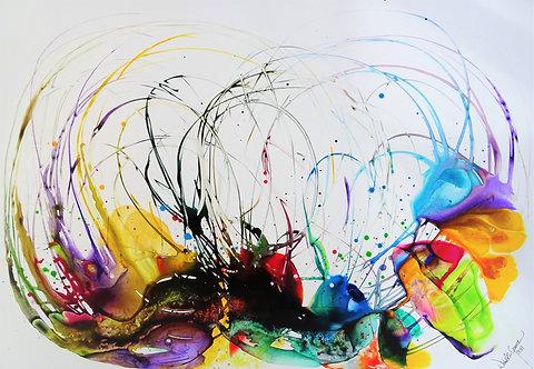 """""""Dancing Colours"""" - 70x100cm"""