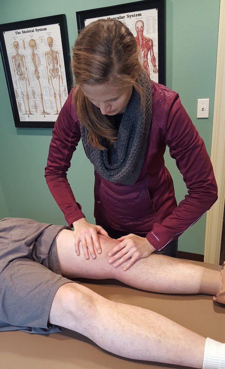 Knee therapy by Angie at Balanced Fitness & Health