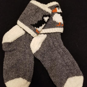 --- Oxford Grey Puffin - Medium ---- 1 Available