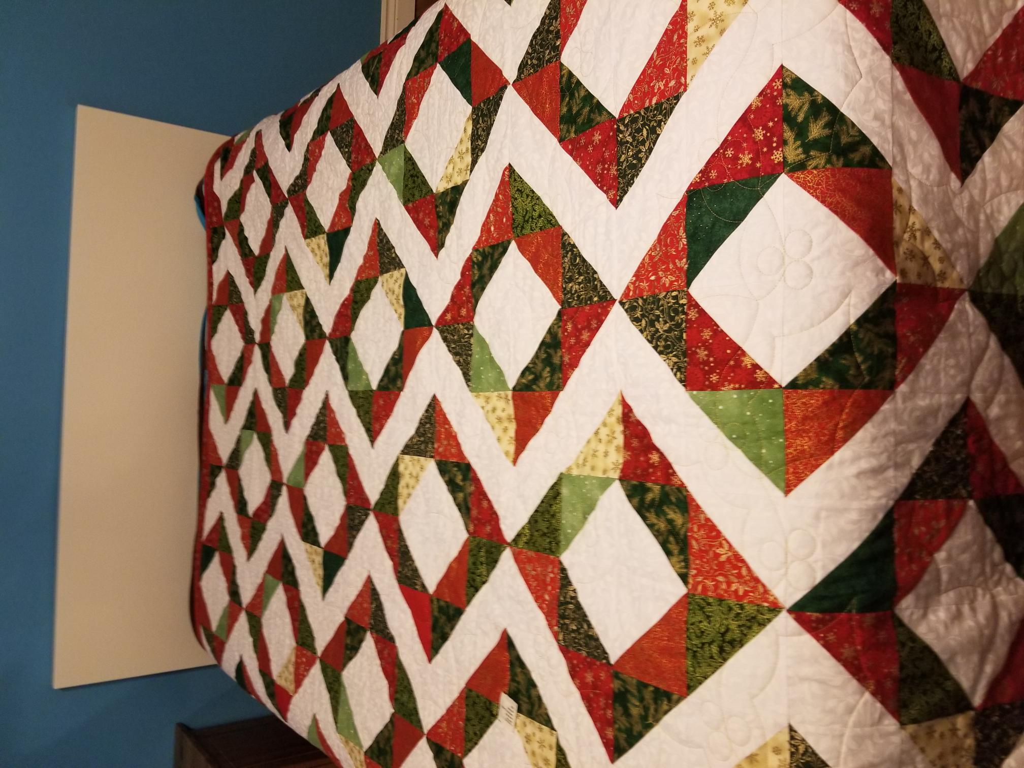 Christmas Quilt with Holly Panto