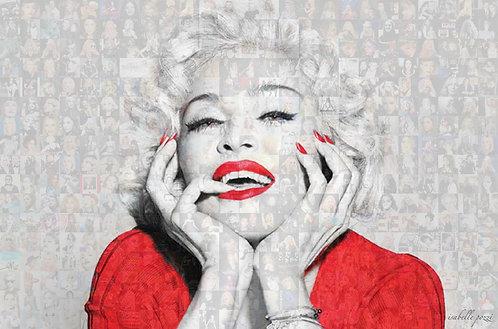 Madonna red dress