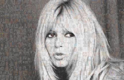 Brigitte Bardot B&W