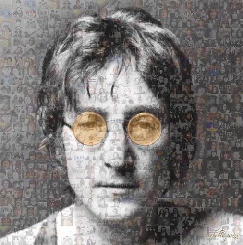 John Lennon - orange glasses