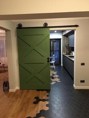Ușă glisantă hambar 2X (orice culoare)