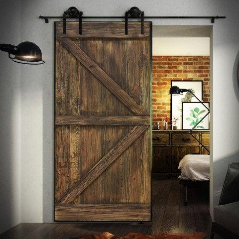 Ușă glisantă hambar FABRIC STEEL