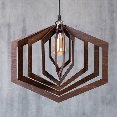 Lustră din lemn ASHA Wenge