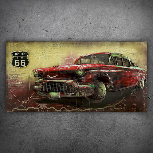 Tablou 3D RED CAR