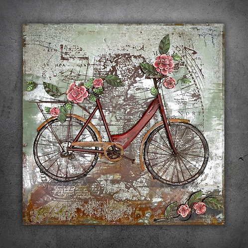 Tablou 3D RED BICYCLE