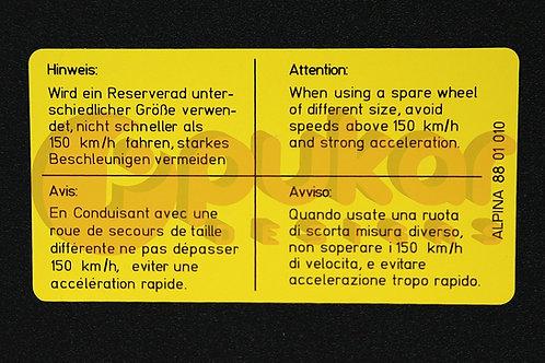 Spare Wheel Information