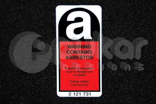 Asbestos Warning SMALL