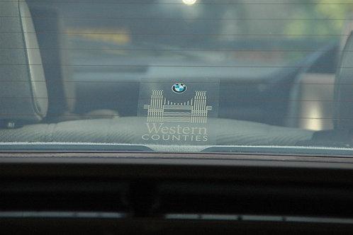 Dealer Rear Window Sticker