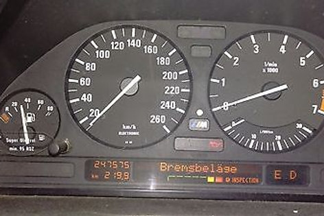 E34 M5 E31 850csi Cluster Tacho Bleifrei Unleaded