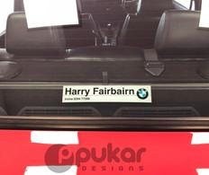Rear Dealer Sticker