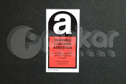 Asbestos Warning LARGE