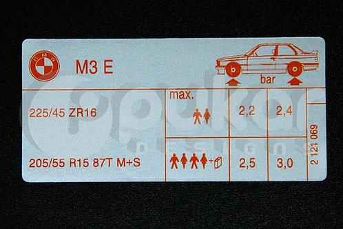 E30 M3 Tyre Pressure