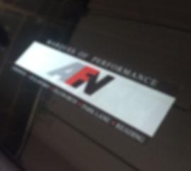 REPRODUCTION AFN Porsche Dealer Sticker dealer dealership window