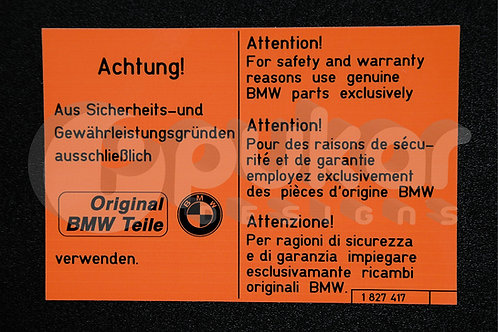 Achtung Original Parts Teile  V1