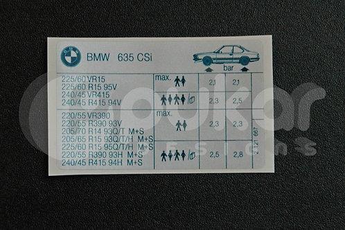 E24 Tyre Information Reifendruck