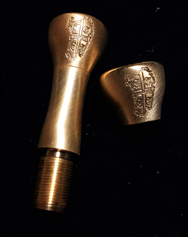 Threaded Bronze Mouthpiece