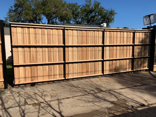 8 foot unstained fence