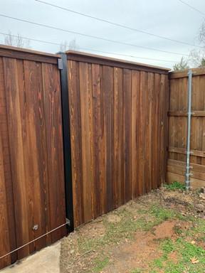 8 foot cedar fence
