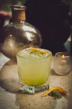 Basil Suger Cocktail at Flora, West Hartford