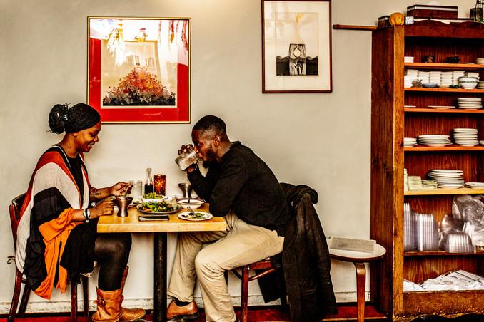 Diners at Miya's Sushi, New Haven