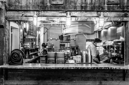 The Café kitchen at Heirloom