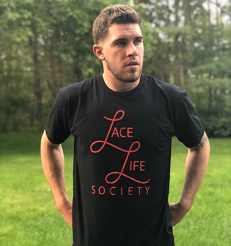 Black/Red Stacked Logo T-Shirt