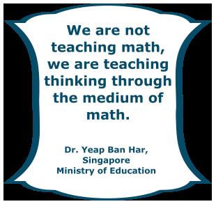 We are teaching thinking.