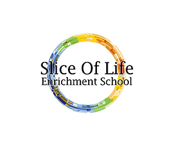 final slice of life white logo centered.