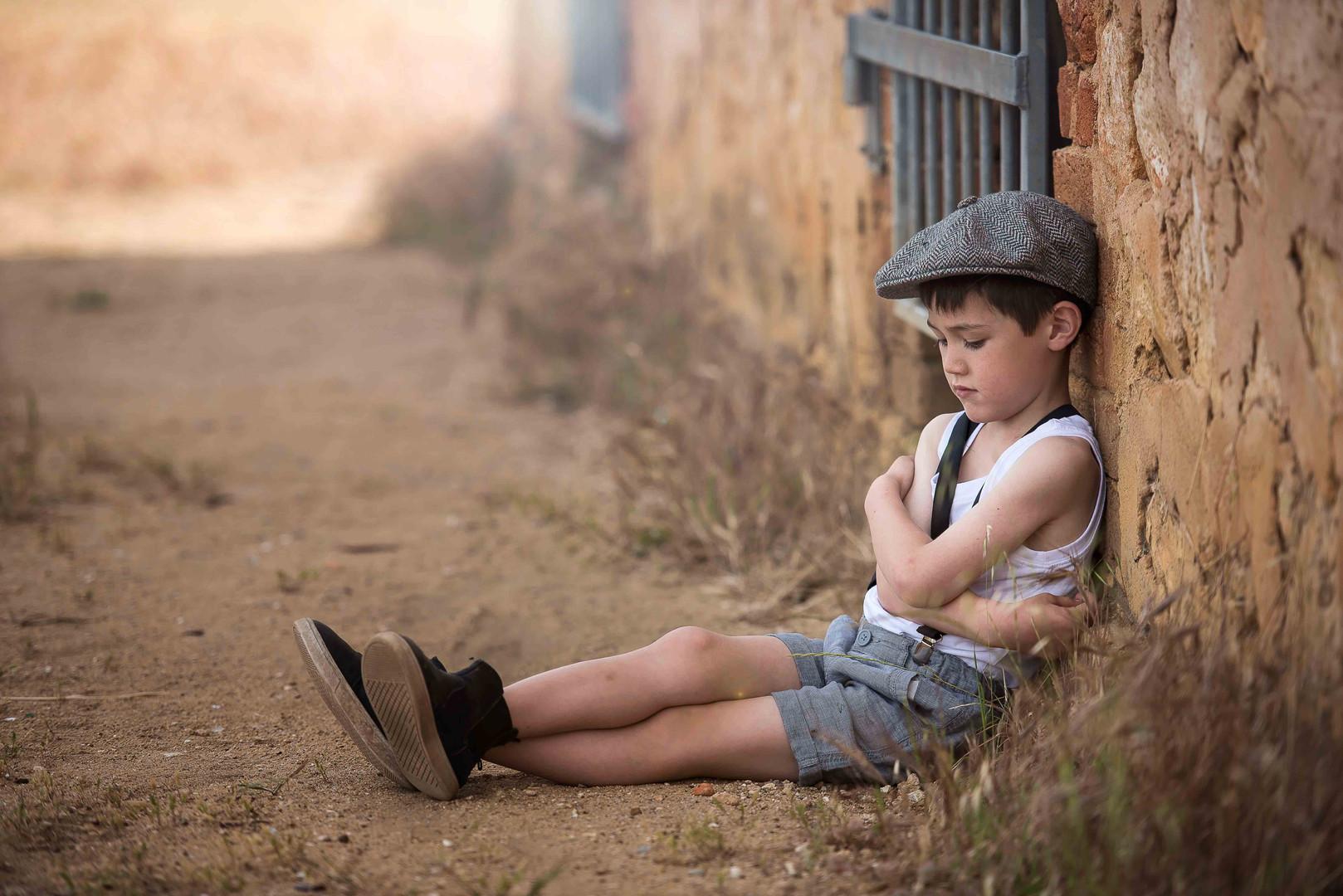 Young boy at Perrys paddock, Perth WA photo session