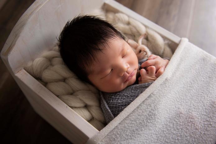 sleeping newborn baby perth photographer